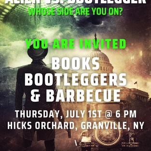Flyer for Alien vs. Bootlegger Whose side are you on .png