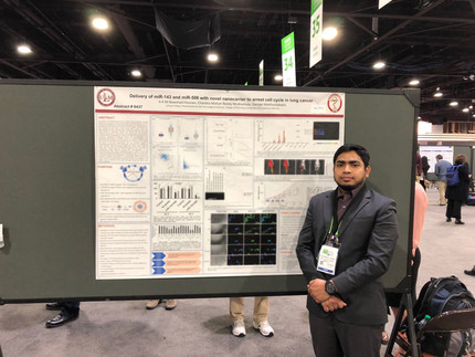 Nawshad presented his poster at the American Association for Cancer Research in Atlanta!!