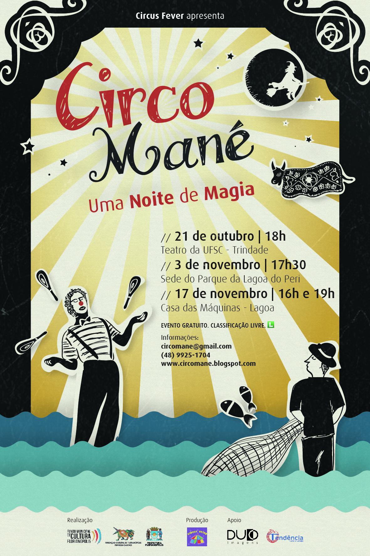 Cartaz Circo Mané