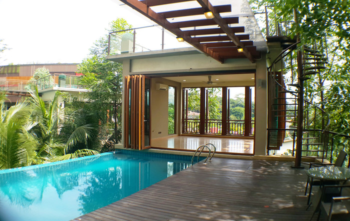 View of Swimming Pool and Deck towards t