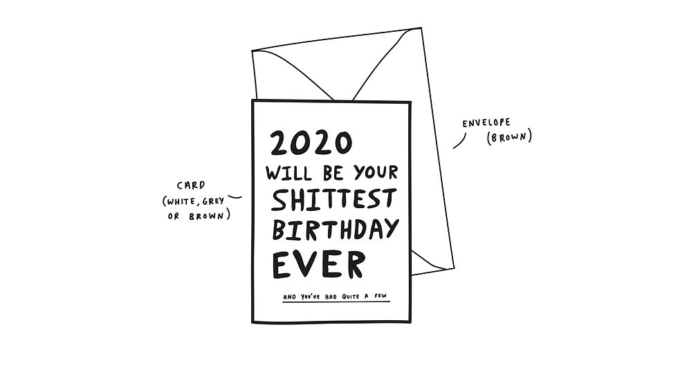 2020 will be your shittest birthday ever
