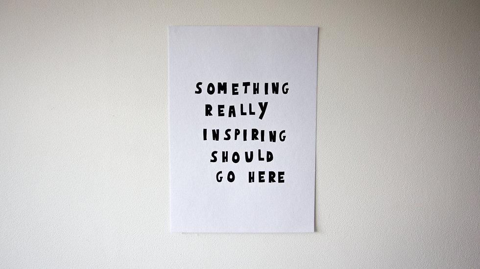 Something inspiring