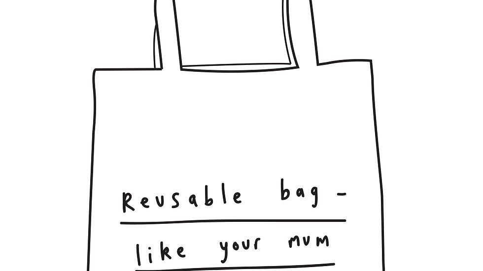 Reusable bag tote