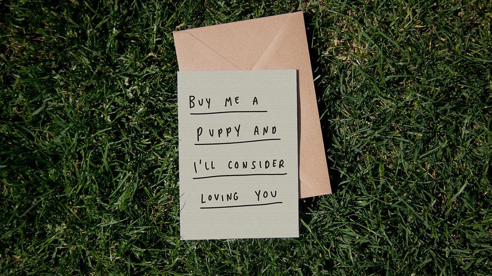 Buy me a puppy