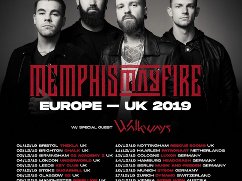 Memphis May Fire - The Key Club, Leeds 05.12.2019