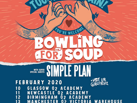 Bowling For Soup - O2 Victoria Warehouse, Manchester 13.02.2020