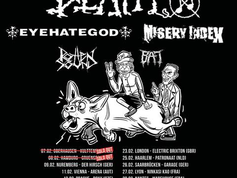 Napalm Death - Stylus, Leeds 22.02.2020