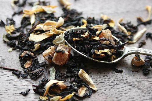 Peach black loose leaf tea