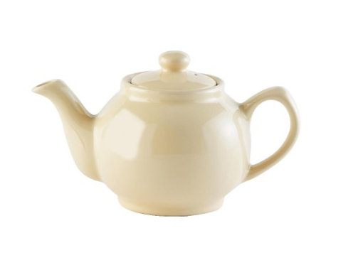 2 cup Teapot - Gloss Cream