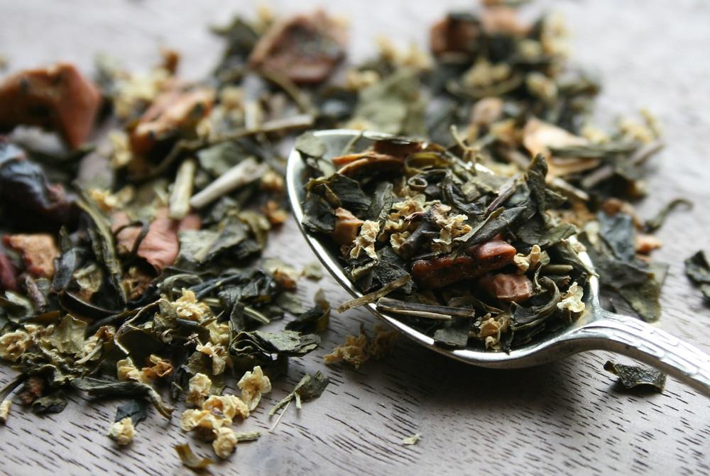 Chinese Green Tea, Apple Pieces, Elderflower