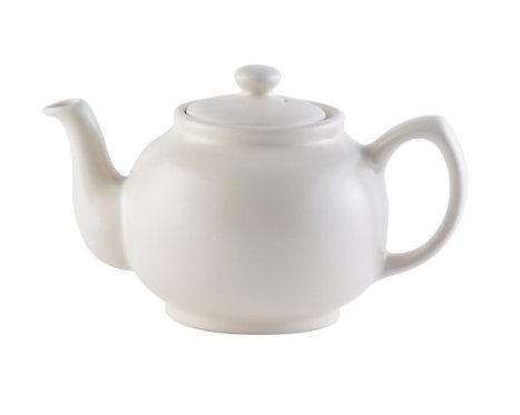 6 cup Teapot - Matt Cream