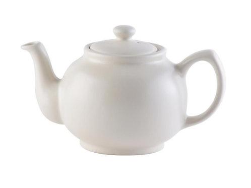 6 cup Teapot - Matt Cream