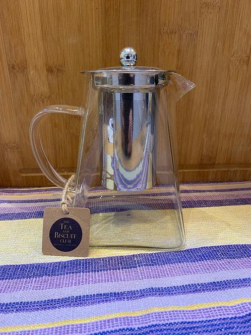 Large Square Glass Teapot