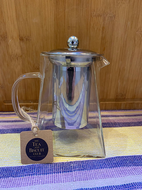 Medium Square Glass Teapot