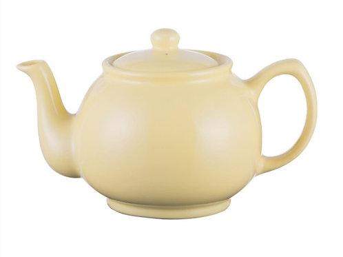 6 cup Teapot - Pastel Yellow