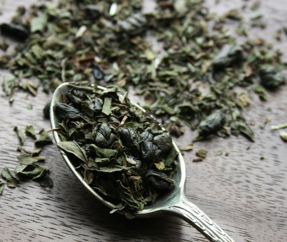Gunpowder Green Tea with peppermint and spearmint