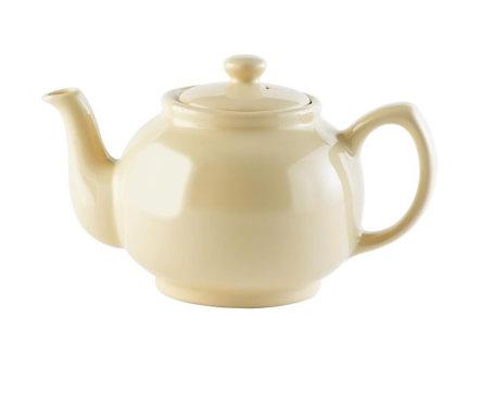 6 cup Teapot - Gloss Cream