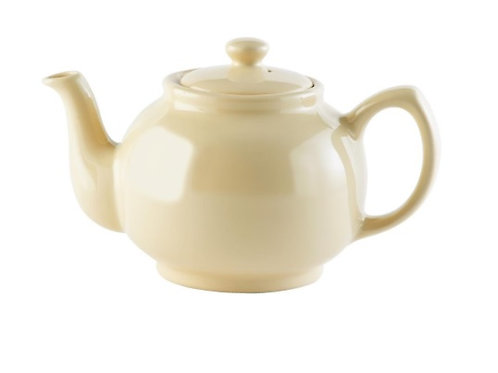 6 cup Teapot - Gloss Cream