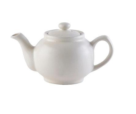 2 cup Teapot - Matt Cream