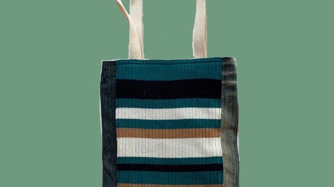 Green Stripes bag