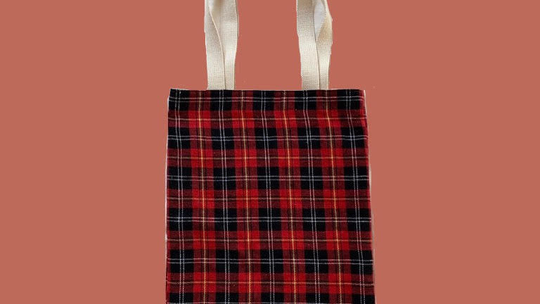Red Plaid bag