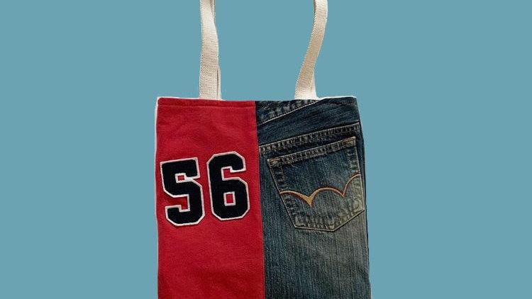 Red56×denim bag