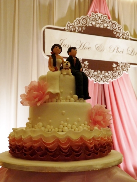 A frilly, bubbly and wafer paper peony cake.jpg