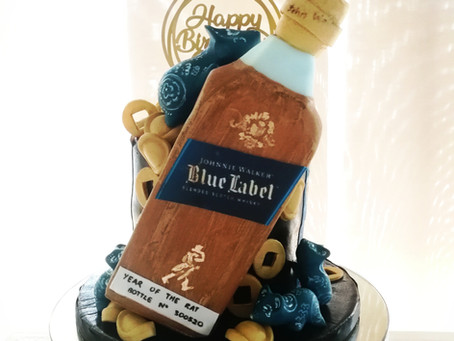 A walk through on the making of the Johnnie Walker cake.