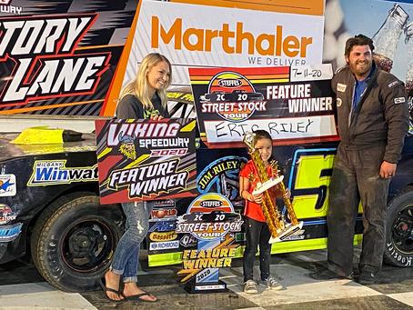 Riley Edges Carter -- Again! Saurers Win at Viking Speedway, Hastings, Reynolds Win at Devils Lake