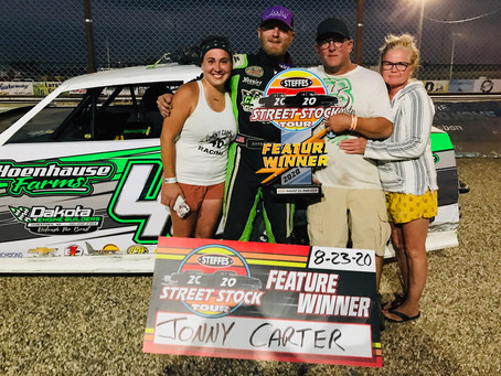 Carter Wins Feature and Tour Title; Steele, Reinke, Bogart and Carlsrud Post Victories at Sheyenne
