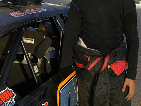Froemke Learning the Ropes in Competitive Stock Car Class