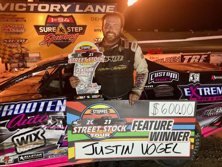 Vogel Wins Steffes Tour Thriller; Zender Takes 2 at I-94