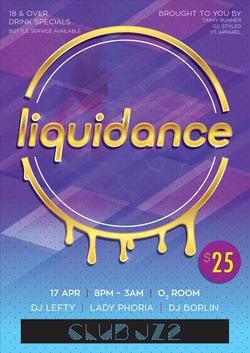 Club Poster - liquidance