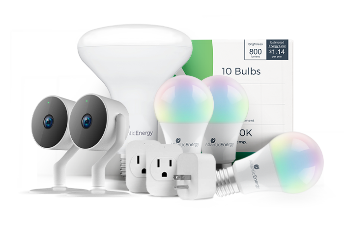 atlantic energy smart home bundle smart product efficiency plug light camera