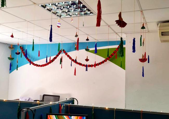 Beautiful Diwali Deco from US Team