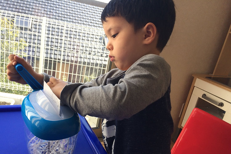 Montessori Infant Class ( 0-3 years old) | モンテッソーリ IC クラス(0-3歳)
