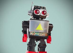 A silver robot