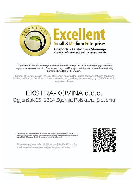 Certifikat_EKSTRA-KOVINA_Excellence_slo.