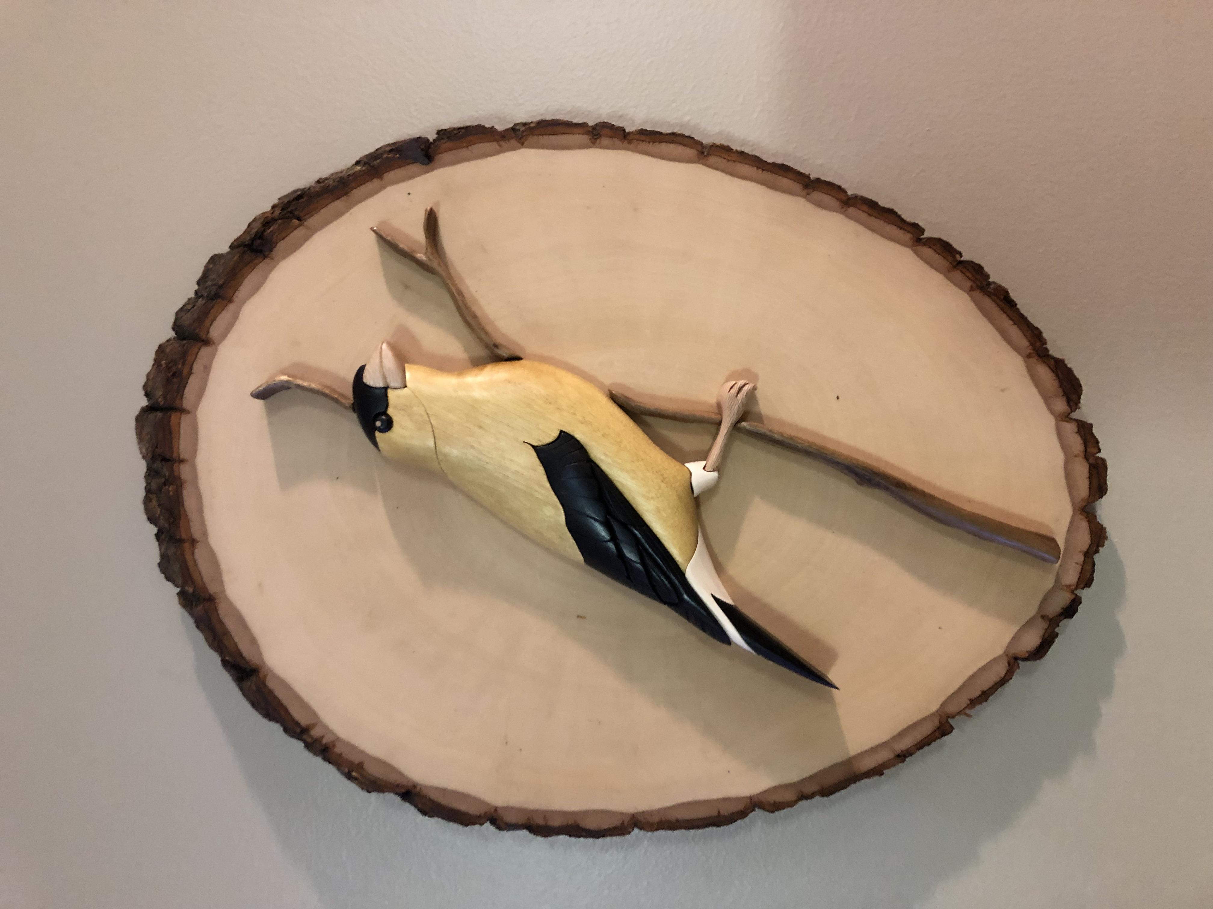 Intarsia Gold Finch