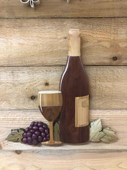 Intarsia wine glass
