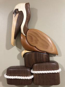 Intarsia Pelican
