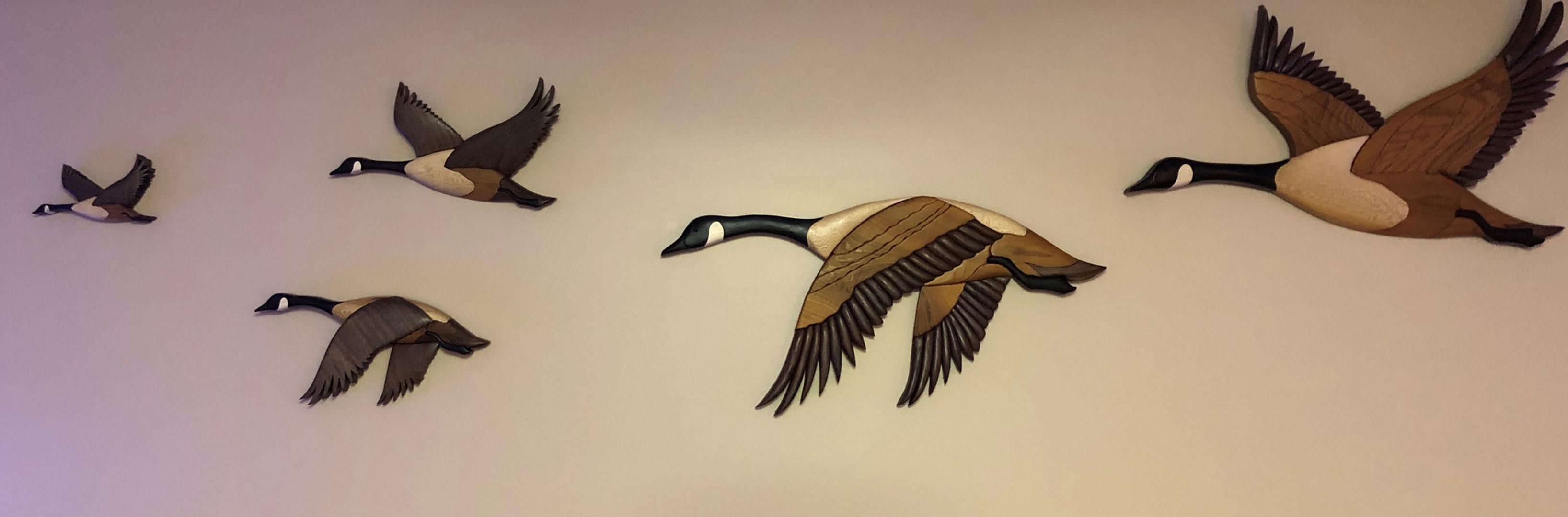 5 Intarsia Canadian Geese   $625.