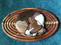 Intarsia Beagle on rug