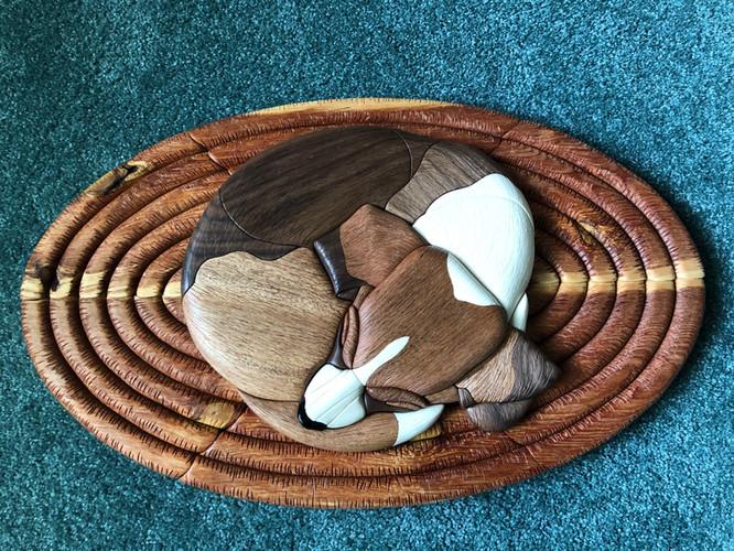 Intarsia Beagle Sleeping  $285.
