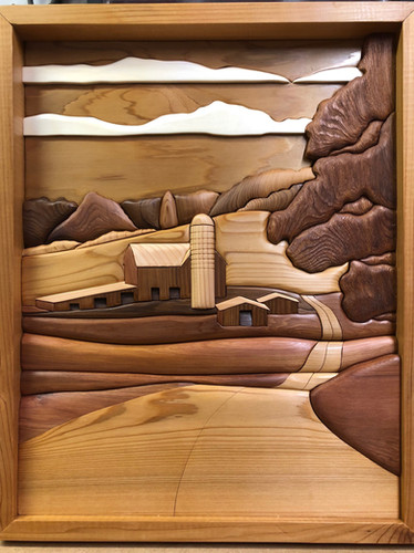 Intarsia Country Road    $350.