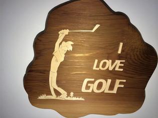 Golf Plaque