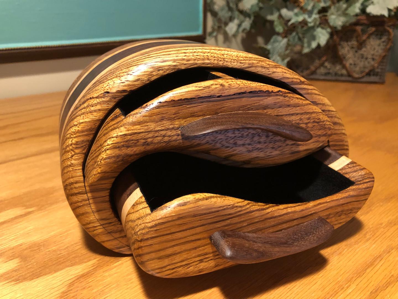 Zebra wood jewelry box   SOLD