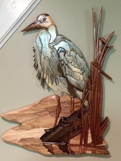 Intarsia Blue Heron
