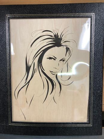 Lovely Lady framed   $45.