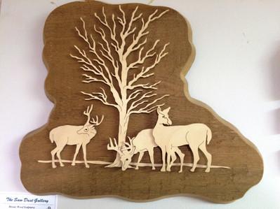 Three Deer Plaque